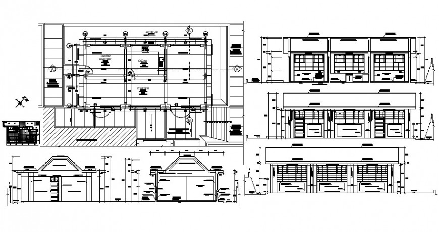2d cad drawing of elevation hotel floor plan auto cad software