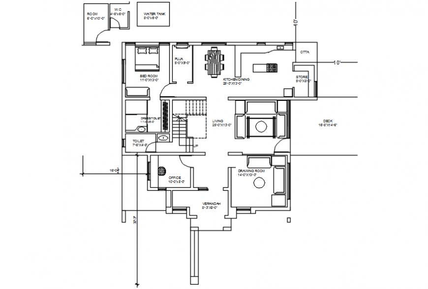 2d cad drawing of elevation layout alternative Auto CAD software