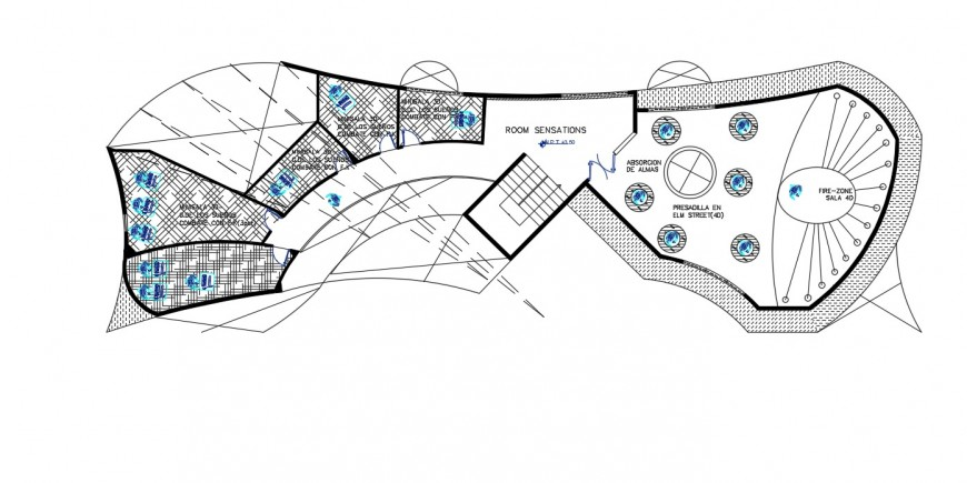 2d cad drawing of exhibition center autocad file