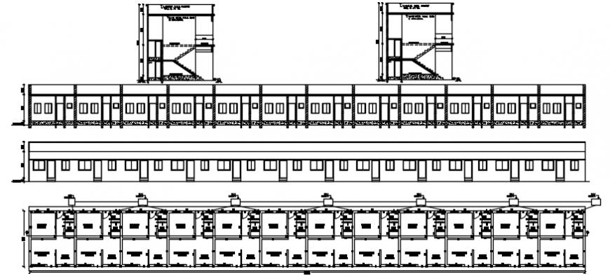 2d cad drawing of exterior building autocad software