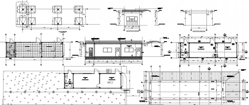 2d cad drawing of exterior elevation 4 Auto Cad software