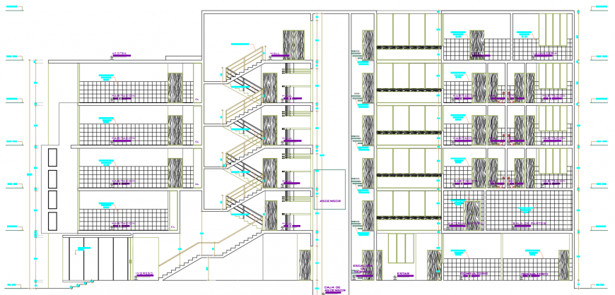 2d cad drawing of exterior elevation  clinic autocad software