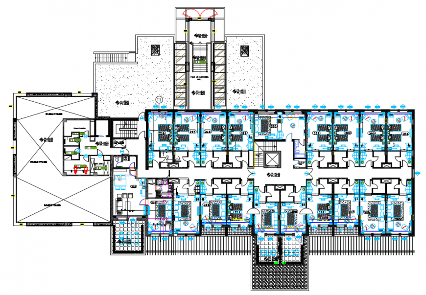 2d cad drawing of first-floor plan autocad software