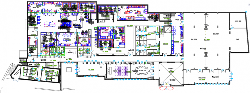 2d cad drawing of first basement plan autocad software