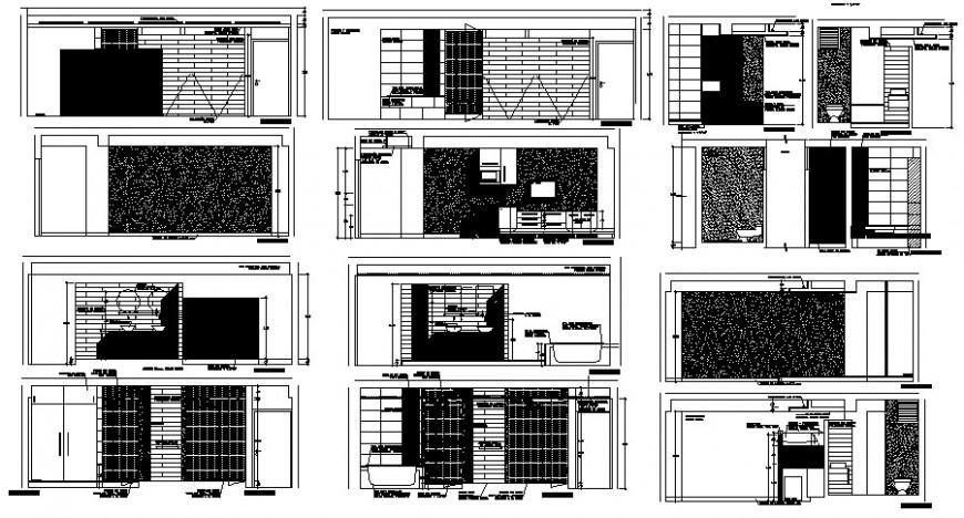 2d cad drawing of floor brick toilet elevation autocad software