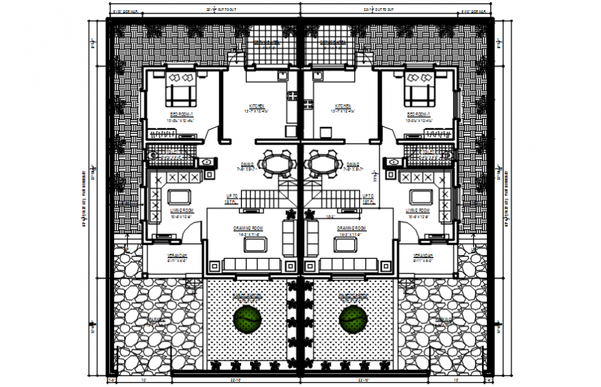2d cad drawing of floor plan 2 autocad software