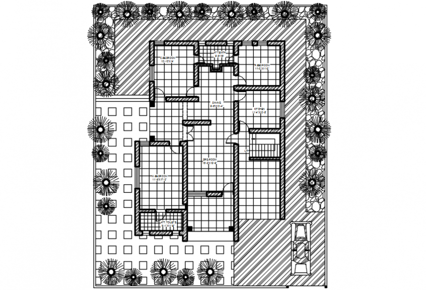 2d cad drawing of floor plan autocad software