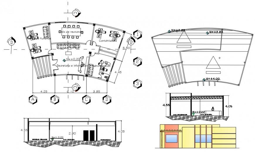 2d cad drawing of furniture cultural area autocad software