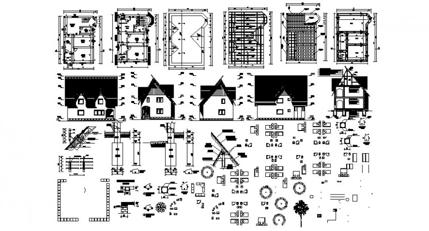 2d cad drawing of furniture house elevation auto cad software