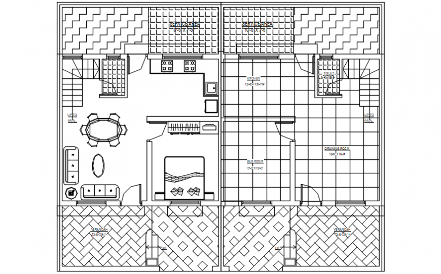 2d cad drawing of ground floor plan autocad software