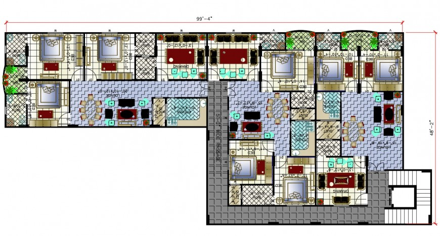 2d cad drawing of hatch interior house elevation autocad software