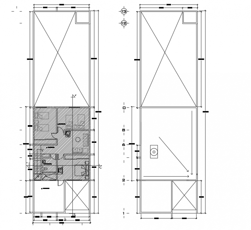 2d cad drawing of hatch layout autocad software