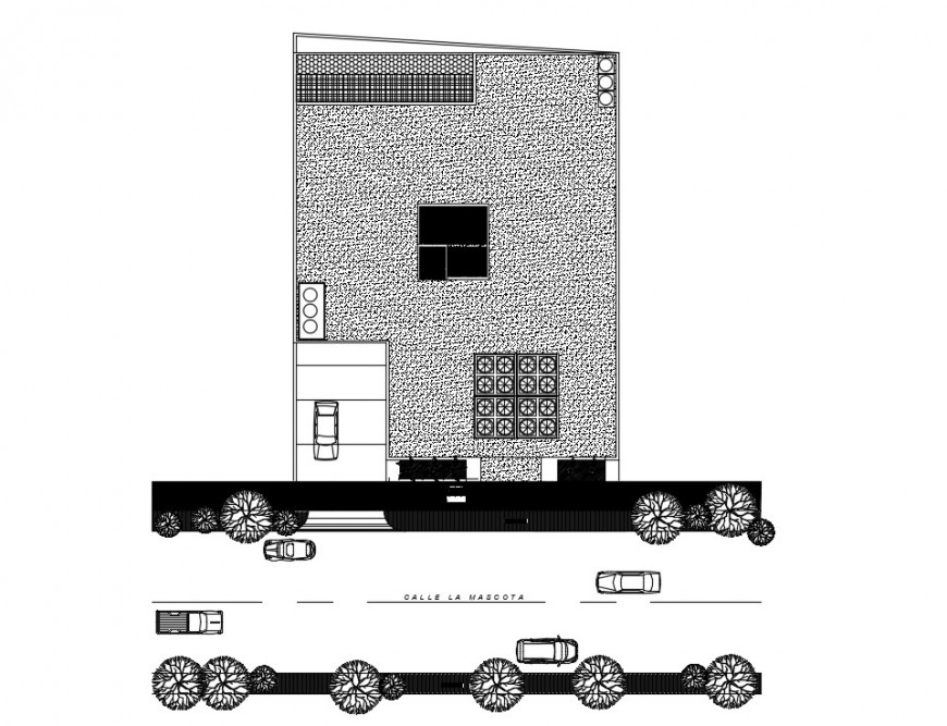 2d cad drawing of hatch Offices autocad software