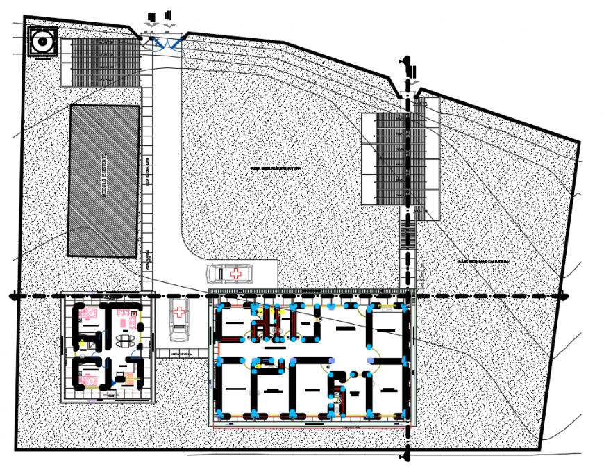 2d cad drawing of health post level autocad software