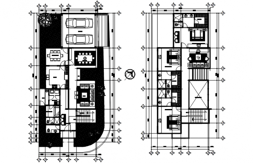2d cad drawing of home plan autocad software