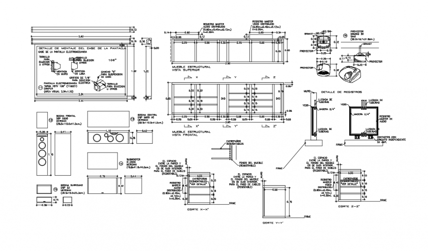 2d cad drawing of home theater elevation auto cad software