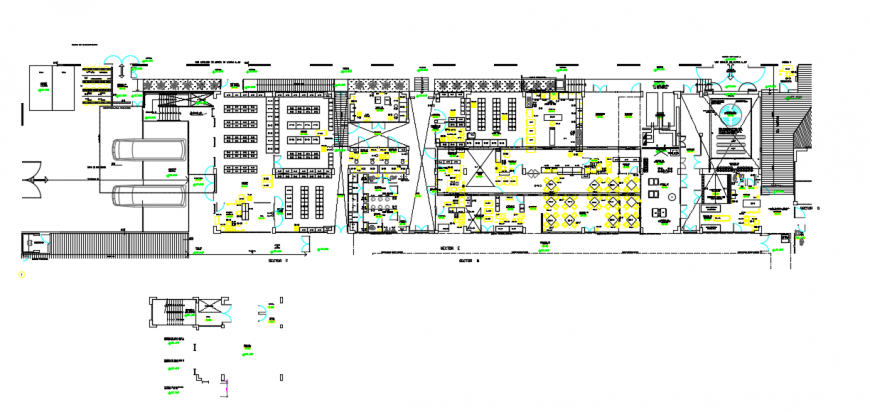 2d cad drawing of hospital elevation parking auto cad software