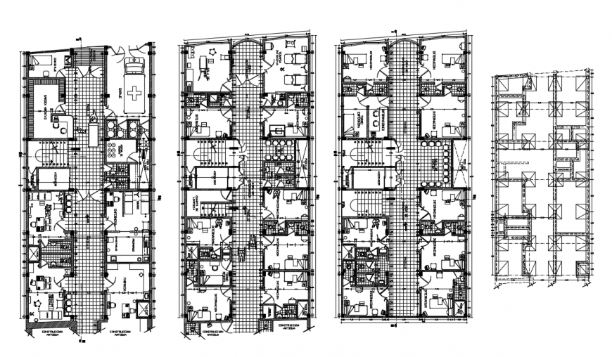 2d cad drawing of hostel floor plan auto cad software