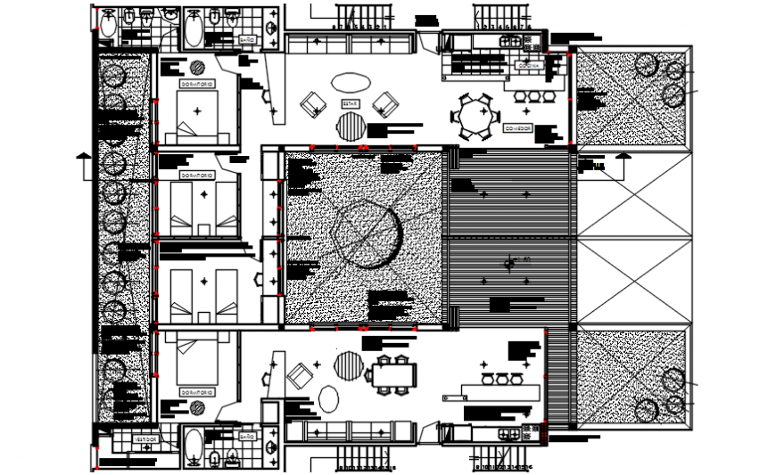 2d cad drawing of hotel room autocad software