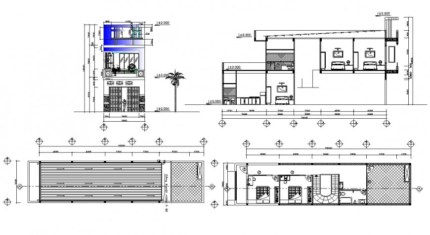 2d cad drawing of house construction site autocad software
