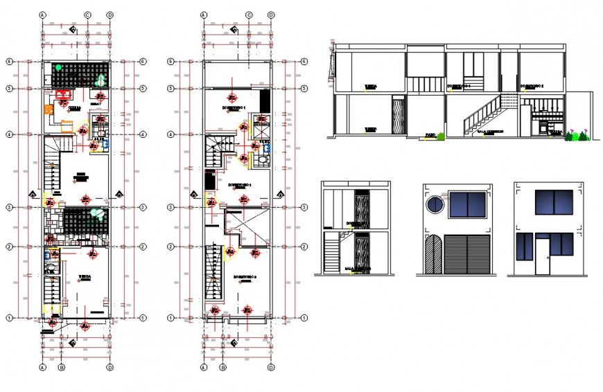 2d cad drawing of house dwg file
