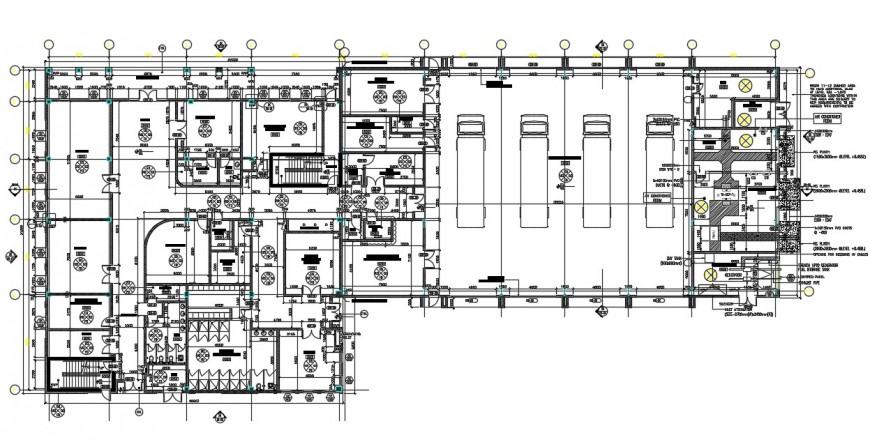 2d cad drawing of industrial warehouse AutoCAD file