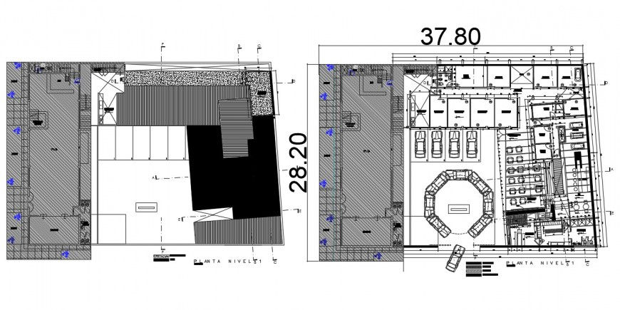 2d cad drawing of industry elevation autocad software