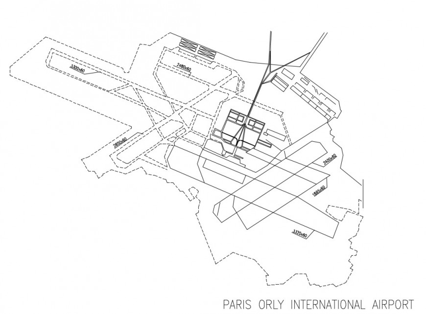 2d cad drawing of international airport autocad software