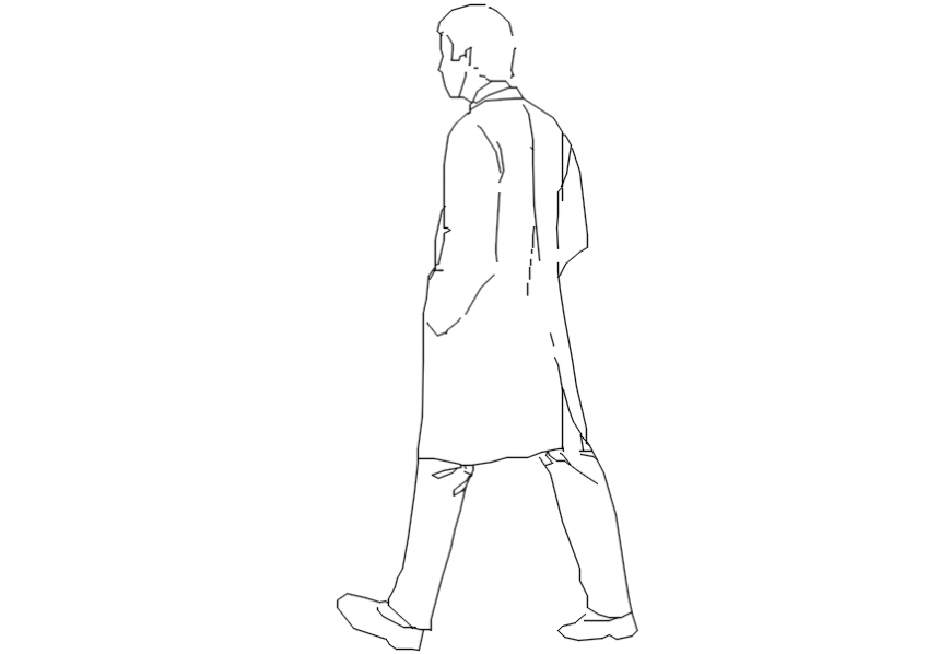 2d cad drawing of jacket old man Autocad software.