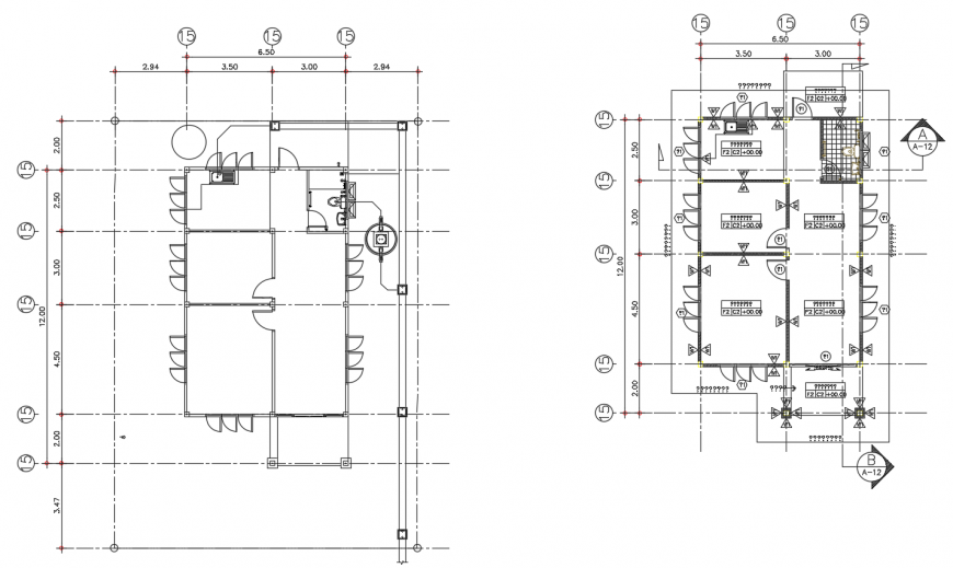 2d cad drawing of kabana house drawing AutoCAD software