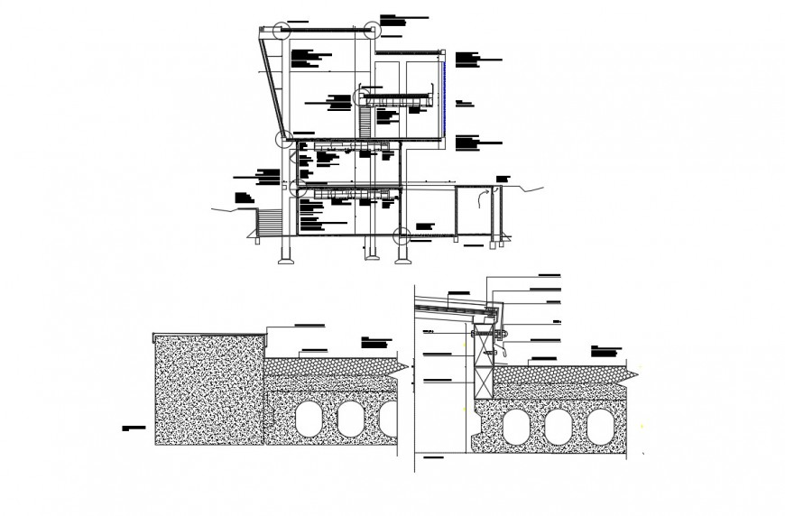 2d cad drawing of library elevation 2  autocad software