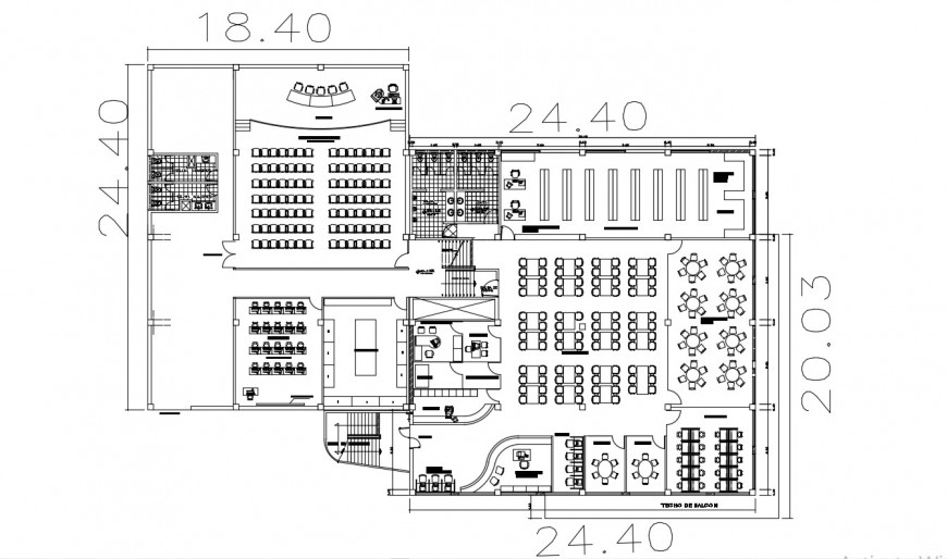 2d cad drawing of library elevation autocad software