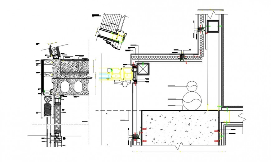 2d cad drawing of library unit autocad software