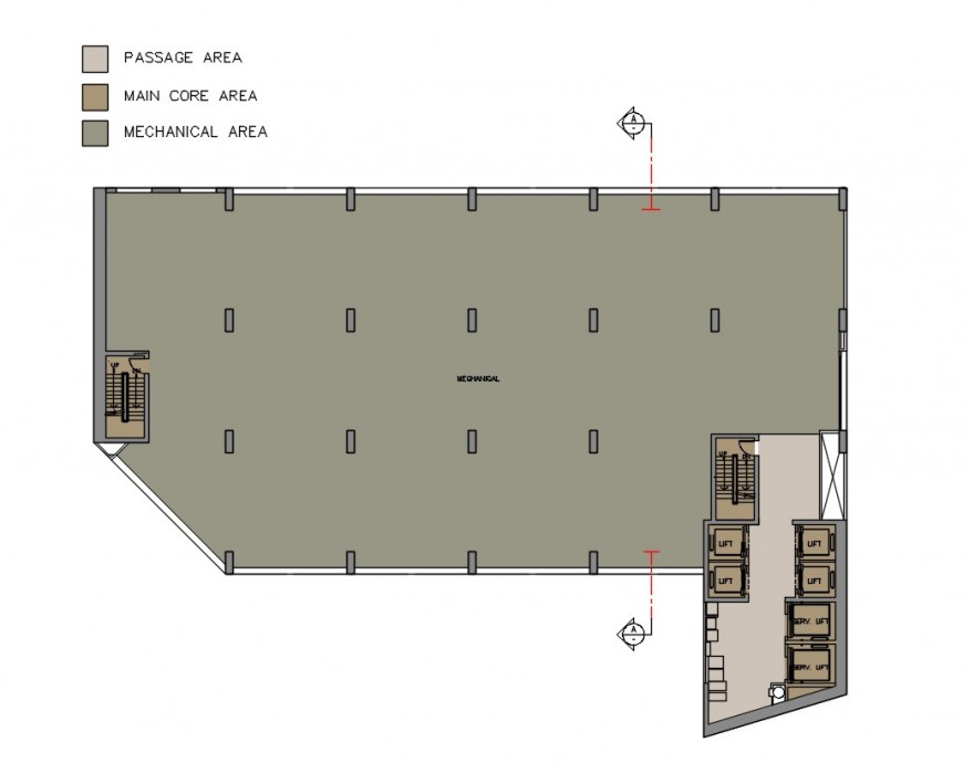 2d cad drawing of mechanical floor apartment