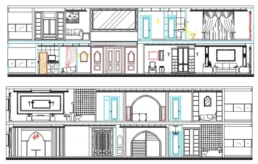 2d cad drawing of Moroccan villa autocad software