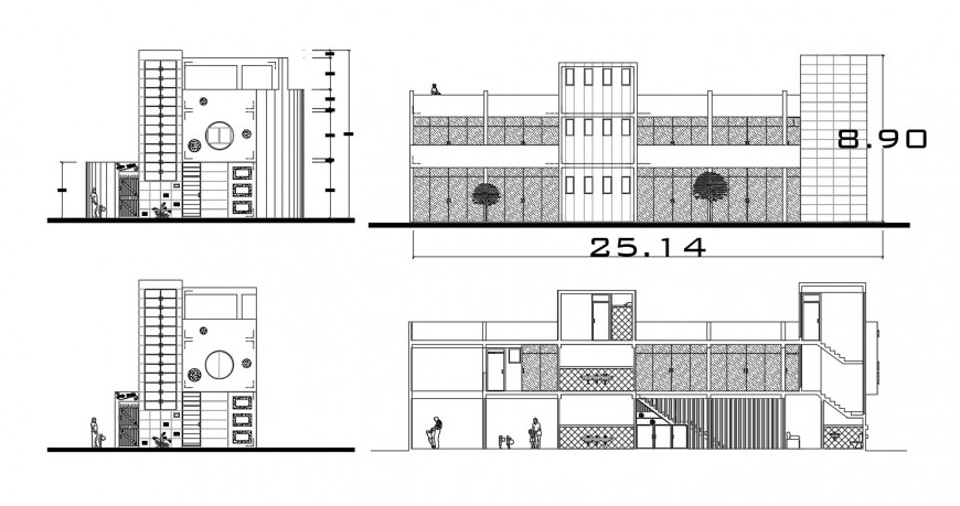 2d cad drawing of nursery lock exterior autocad software