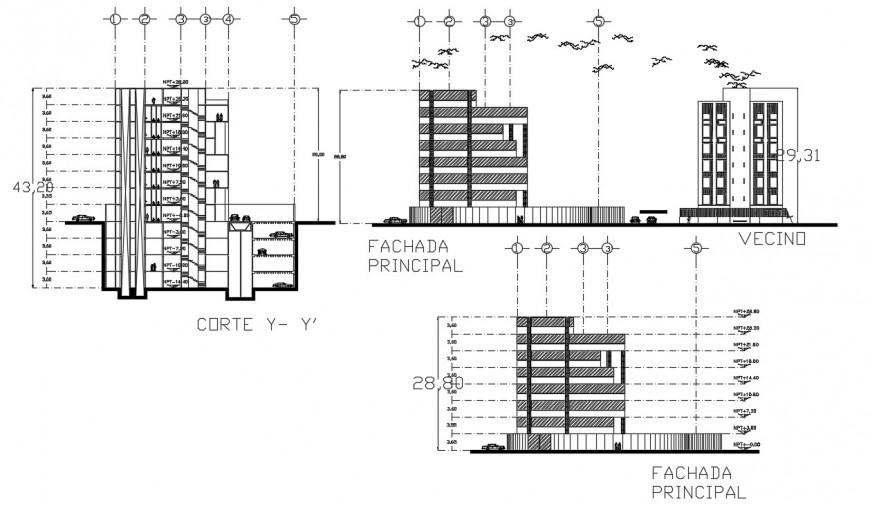 2d cad drawing of office cooperative section autocad software