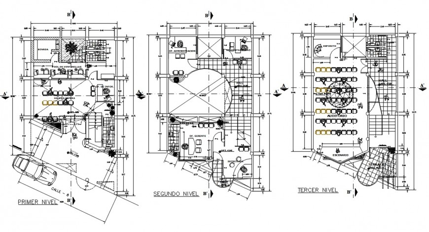 2d cad drawing of office layout plan cad file