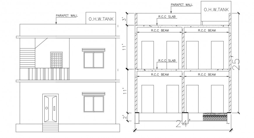 Meeting wall slab blocks construction cad drawing details