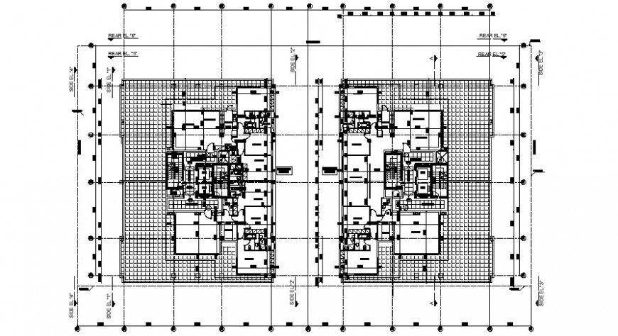 2d cad drawing of penthouse auto cad software