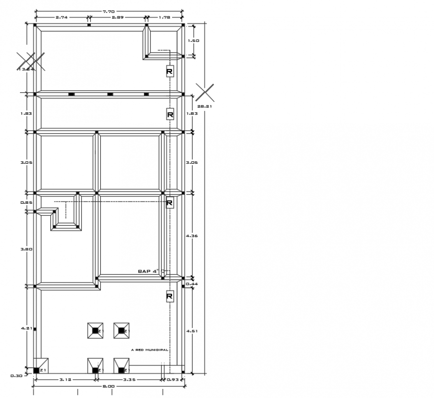 2d cad drawing of plain home drawing plan of autocad software