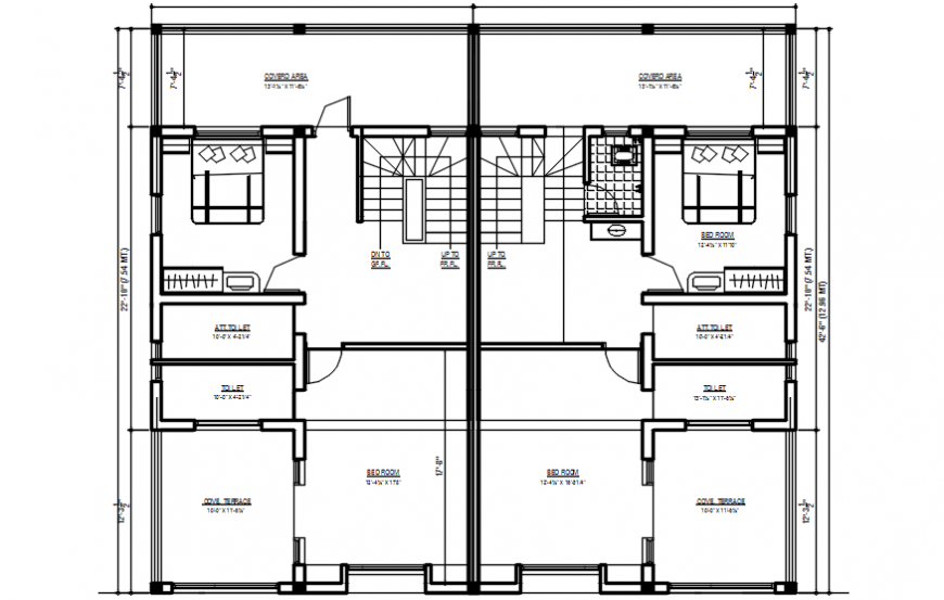 2d cad drawing of plain home final plan autocad software