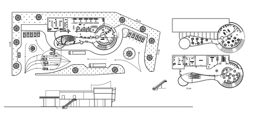 2d cad drawing of plans elevation auto cad software