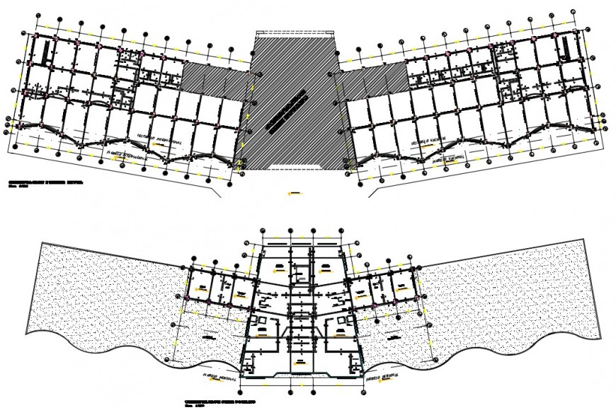 2d cad drawing of plot flat area elevation autocad software