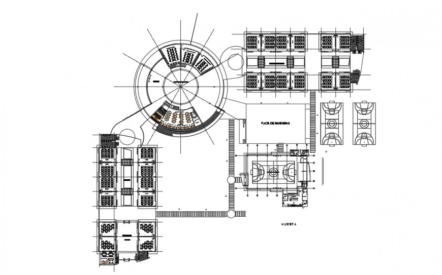 2d cad drawing of primary school and bachelor autocad software