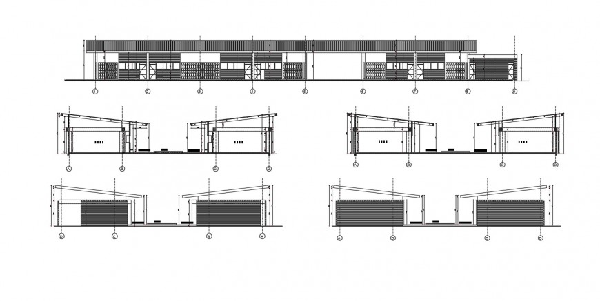 2d cad drawing of primary school main entrance autocad file