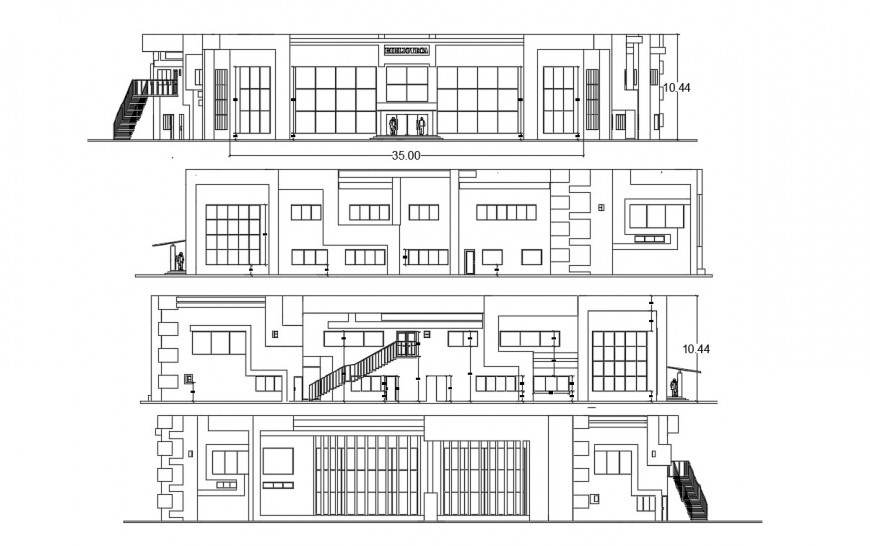 2d cad drawing of public library autocad software