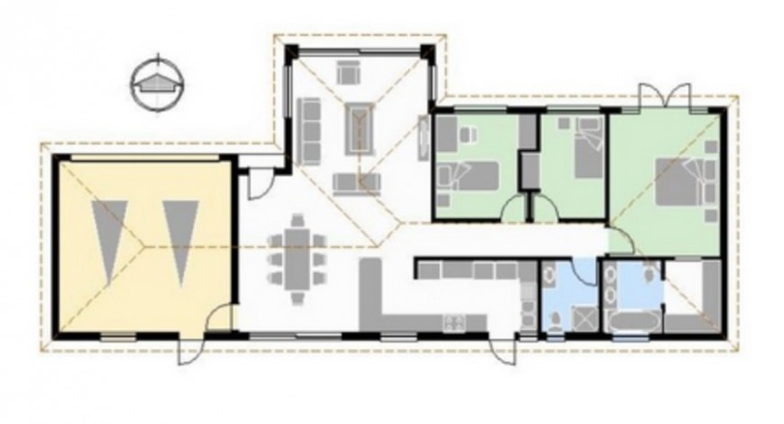 2d cad drawing of residence layout plan dwg file