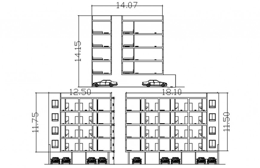 2d cad drawing of residential building autocad software