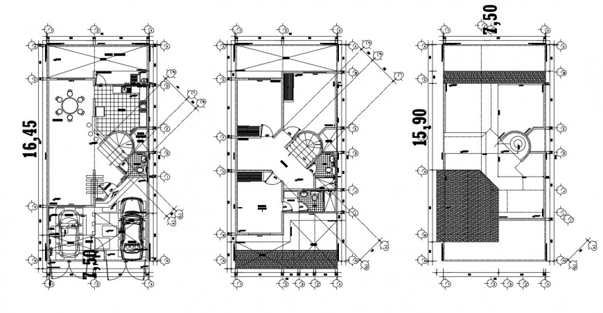 2d cad drawing of residential house autocad file